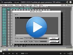 Przykład jak zgrać pierwsze 100 sektorów w DOS DMDE DOS ver. 1.38.06