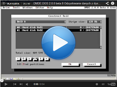 Odzyskiwanie danych z dyskow RAID DMDE DOS ver. 2.0.0 beta 8