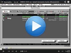 Zerowanie dysku, Bezpowrotne skasowanie danych, Nadpisanie DMDE DOS ver. 2.0.0 beta 8