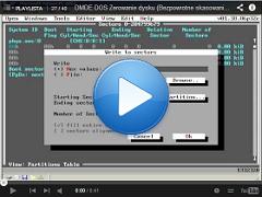 Zerowanie dysku, Bezpowrotne skasowanie danych, Nadpisanie DMDE DOS ver. 1.38.06