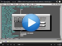Przykład jak przywrócić boot sektor z kopii boot sektora DMDE DOS ver. 1.38.06
