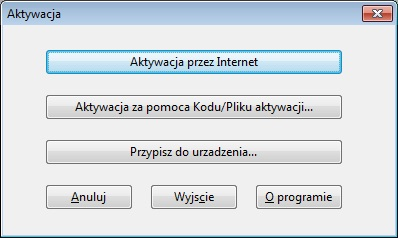 Aktywacja programu DMDE przez internet