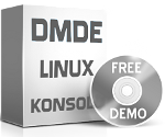 Program DMDE do odzyskiwania danych konsola dla Linuxa terminal