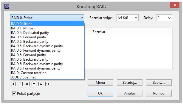 Jak stworzyć RAID w DMDE?