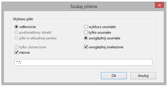 Wyszukiwanie plików w programie